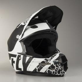 FLY F2 Fracture Cross-Helmet Black-White