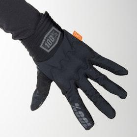 100% Cognite Cross Gloves Black-Charcoal