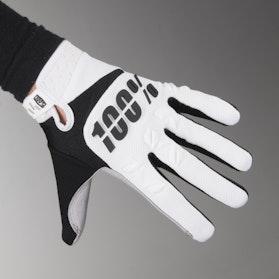 100% Airmatic Gloves White-Black