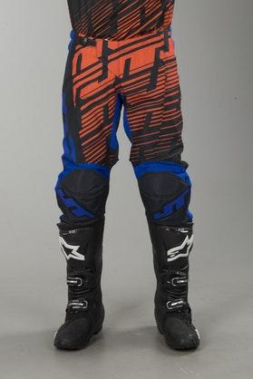 Cross Kalhoty JT Racing Prime Modrá-Oranžová-Černá