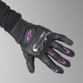 Alpinestars Ladies SMX-2 Air Carbon Gloves Black-Pink