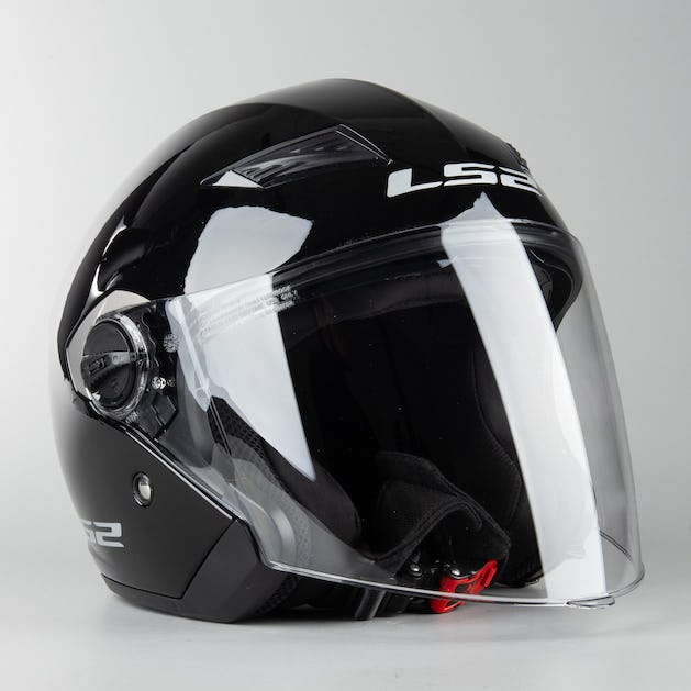 10c4b14a LS2 OF569 Track Open Face Helmet Glossy Black - Now 10% Savings ...