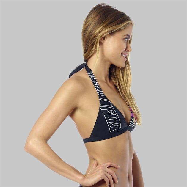 Bikinitop Fox Refraction Fixed Halter, Sort