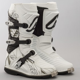 Acerbis Shark Youth Boots White-Black