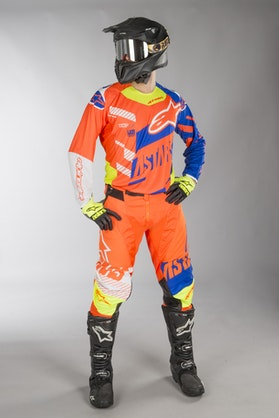 Alpinestars Techstar Screamer MX Clothes Orange-Blue-White-Fluo Yellow