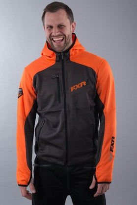 Bluza FXR Recoil Active szaro-pomarańczowa