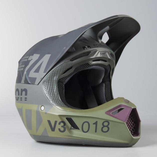 Fox V3 Helmet >> Fox V3 Draftr Mx Helmet Charcoal Mx 18 Buy Now Get 50 Off 24mx Com