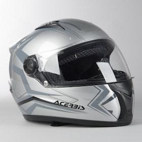 Acerbis Full Face Fs-807 Integral Helmet Silver-Grey