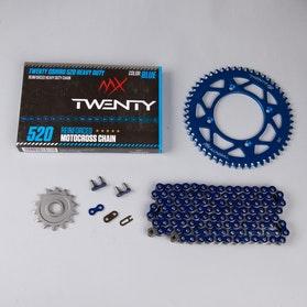 Zestaw napędowy MX Twenty Delta 520 X-Ring Niebieski