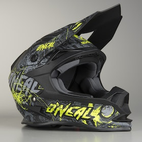 Kask Cross O'Neal 7 Series Evo Menance Szaro-HiVis