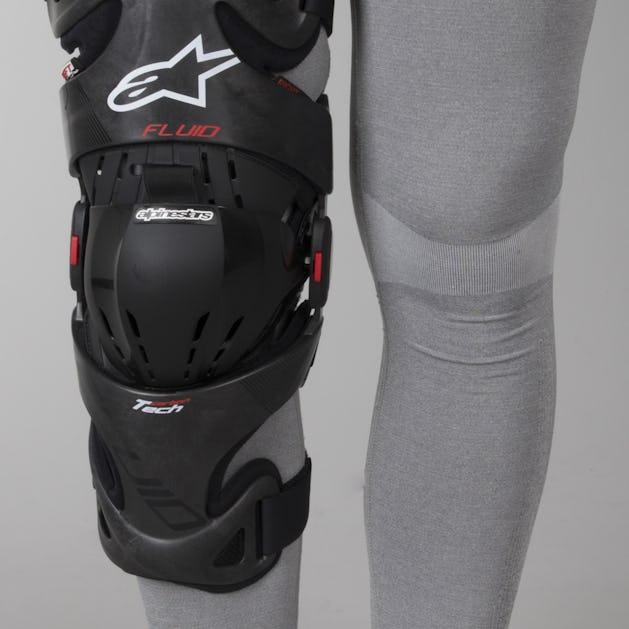 d22f9eb451 Alpinestars FLUID TECH Carbon Knee Brace Right Anthracite-Red-White - Now  23% Savings - 24mx.ie