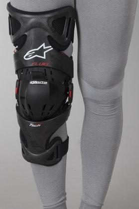 Alpinestars FLUID TECH Carbon Knee Brace Right Anthracite-Red-White