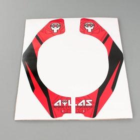 Części zamienne Atlas Original Graphic Kit czerwony