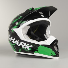 Kask cross Shark SX2 Predator Czarno-Zielony