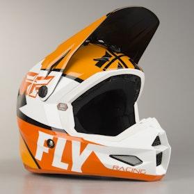 FLY Elite Guild MX Helmet Orange-White-Black