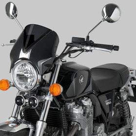 Owiewka Puig Retrovision Honda Czarna-Ceimna Przydymiona