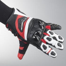 Rękawice Richa Stealth Czarno-Biało-Czerwone