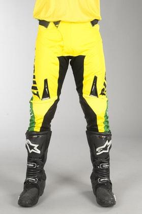 Spodnie Cross Circuit Oceano Żółto-Zielone
