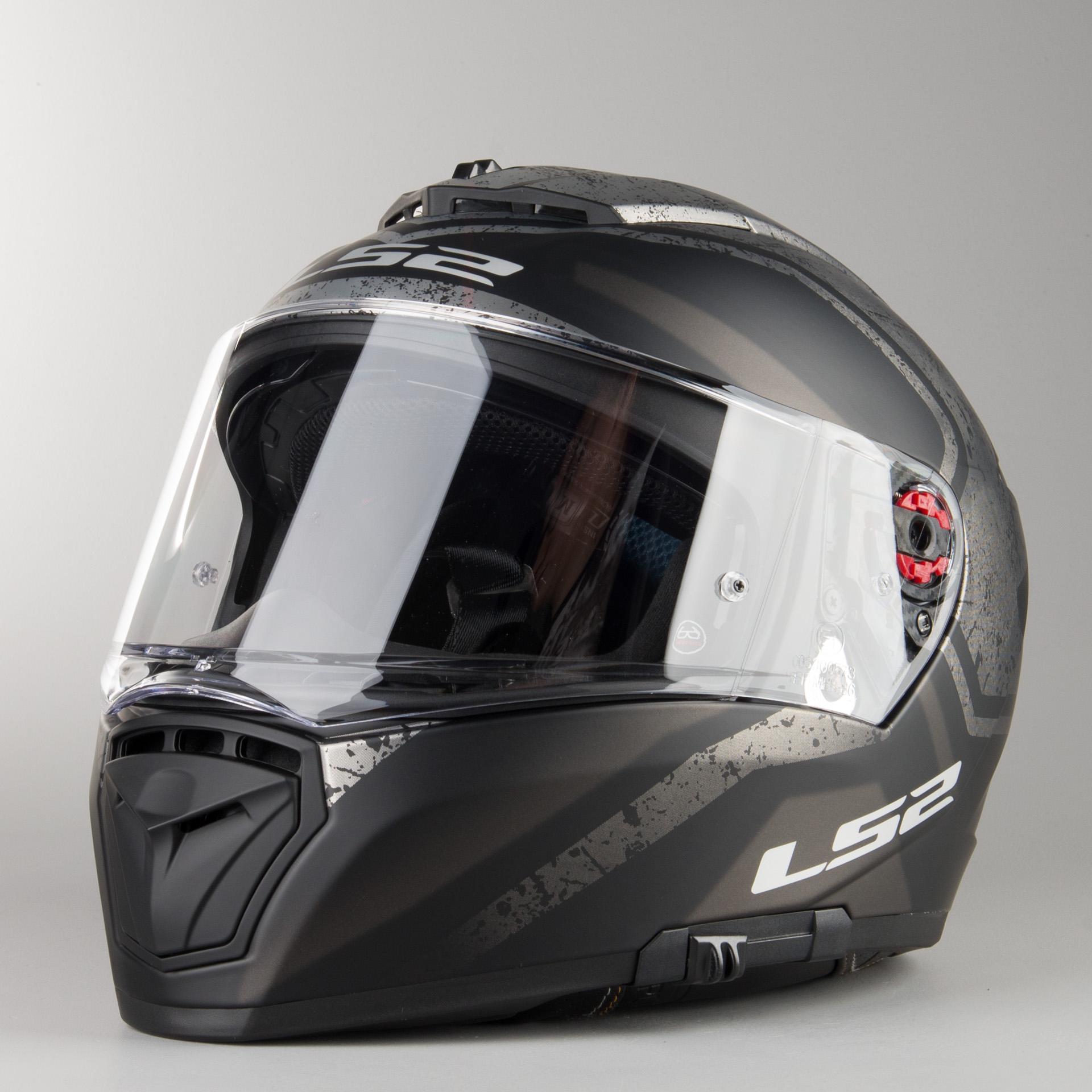 Matt Black LS2 Breaker Bold Motorcycle Motorbike Helmet Titanium