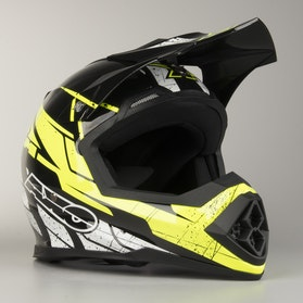 AXO Tribe MX Helmet Black & Yellow