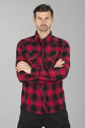 Brandit Checkshirt Shirt - Red-Black