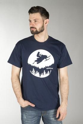 Koszulka Sledstore Moon Sled Niebieska