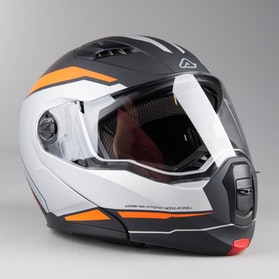 Acerbis Derwel Adventure Helmet Black-Orange