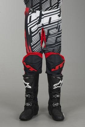 Crossové Kalhoty JT Racing Prime Červená-Černá-Bílá