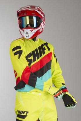Bluza Cross Shift Whit3 Tarmac Neonowo-Żółta MX 17