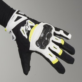 Alpinestars SMX-2 Air Motorcycle Gloves Carbon Black-White-Yellow