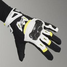 Rękawice motocyklowe Alpinestars SMX-2 Air Carbon Czarno-Biało-Żółte