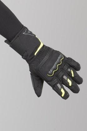 Rękawice Dainese Tempest D-Dry Długie Czarno-Żółte