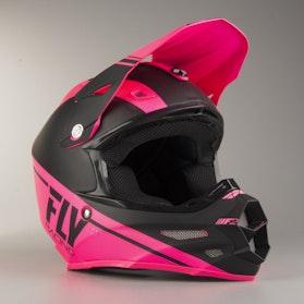 FLY F2 Rewire Cross-Helmet Pink-Black