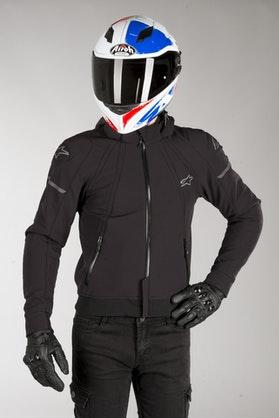 Bluza Motocyklowa z Kapturem Alpinestars Sektor Tech Hoodie Czarno-Ziemistoszara