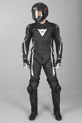 Dainese Assen 2-Piece Leathers Black-White