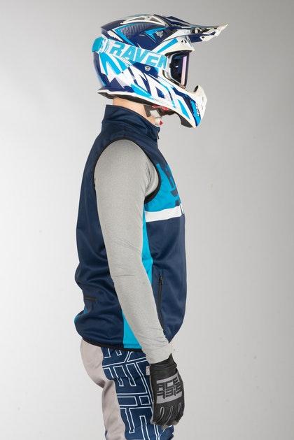 Bunda Acerbis X-Wind Softshell Modrá
