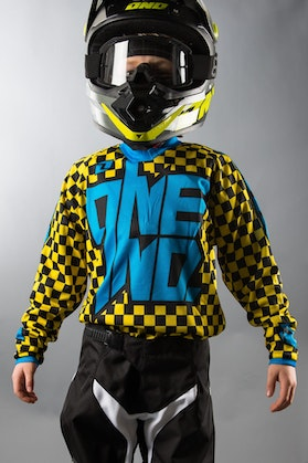 One Industries Youth Atom Chex Jersey Yellow