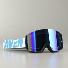 "Raven Edge ""Ice"" MX Goggles Blue Mirror"