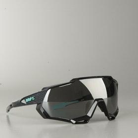 Speedtrap Polished Black Graphic w/ Black Mirror Glasses