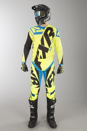 FXR Clutch Prime MX Clothes HiVis-Black-Blue TEST