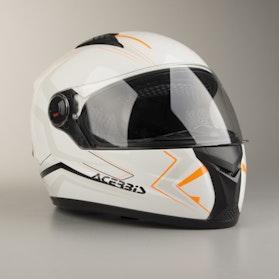 Kask Acrebis Full Face FS-807 Biało-Pomarańczowy