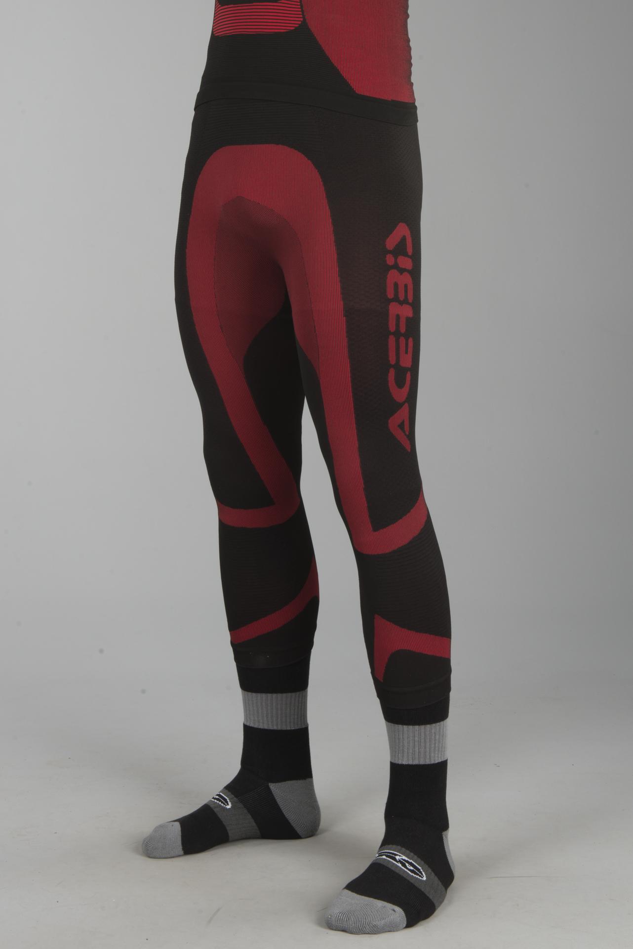 Black//Red Medium//Large Alpinestars Mens Baselayer Bottoms Motorcycle Tech Pant