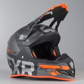 Kask Cross FXR Boost Evo Czarno-Szaro-Pomarańczowy