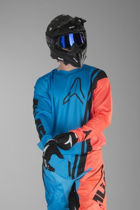 Alias A1 Offset Jersey Neon Red-Cyan