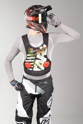 Alpinestars Sequence Chest Protector Black-White-Red