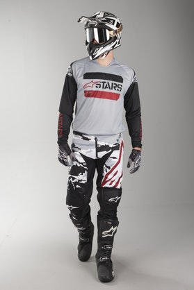 Komplet Cross Alpinestars Racer Tactical Czarno-Szaro-Moro