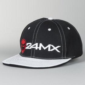 Kšiltovka 24MX Braap Černá-Bílá