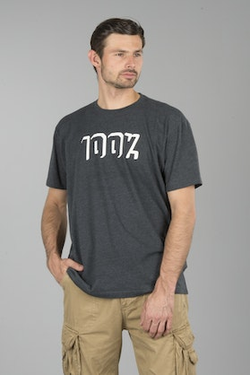 100% Shadowbox T-Shirt Heather Charcoal