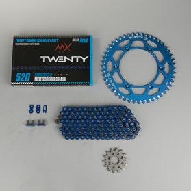 MX Twenty Oshiro 520 Heavy Duty Chain & Sprocket Kit Blue