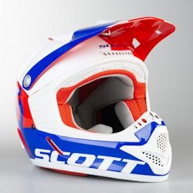 Motokrosová helma Scott 350 Pro ECE Dětská Červeno-Modrá